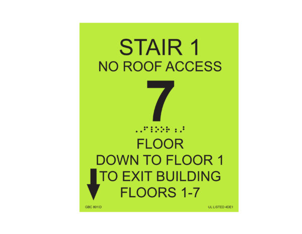 Stair Identification Sign