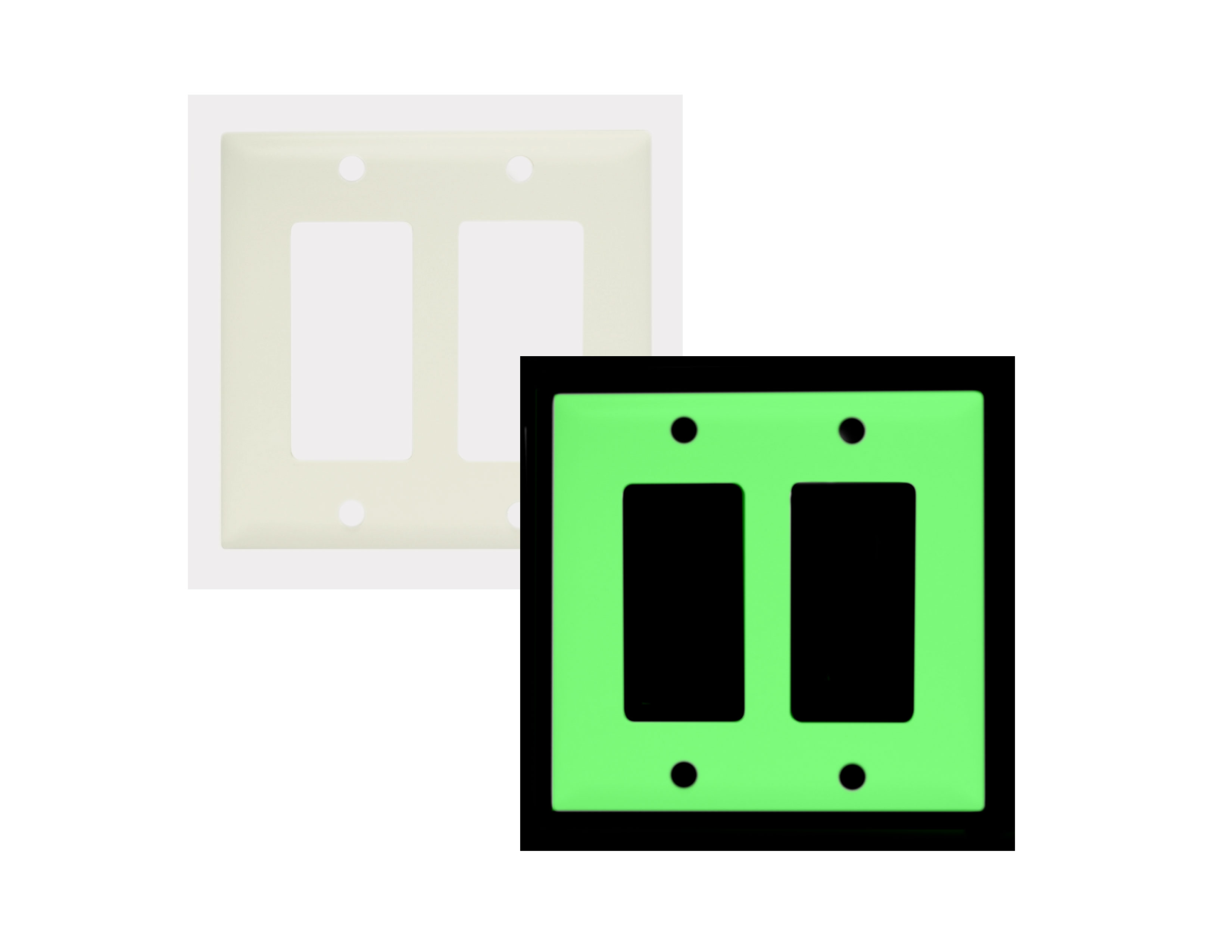 Double Glowing Switch Plate Image