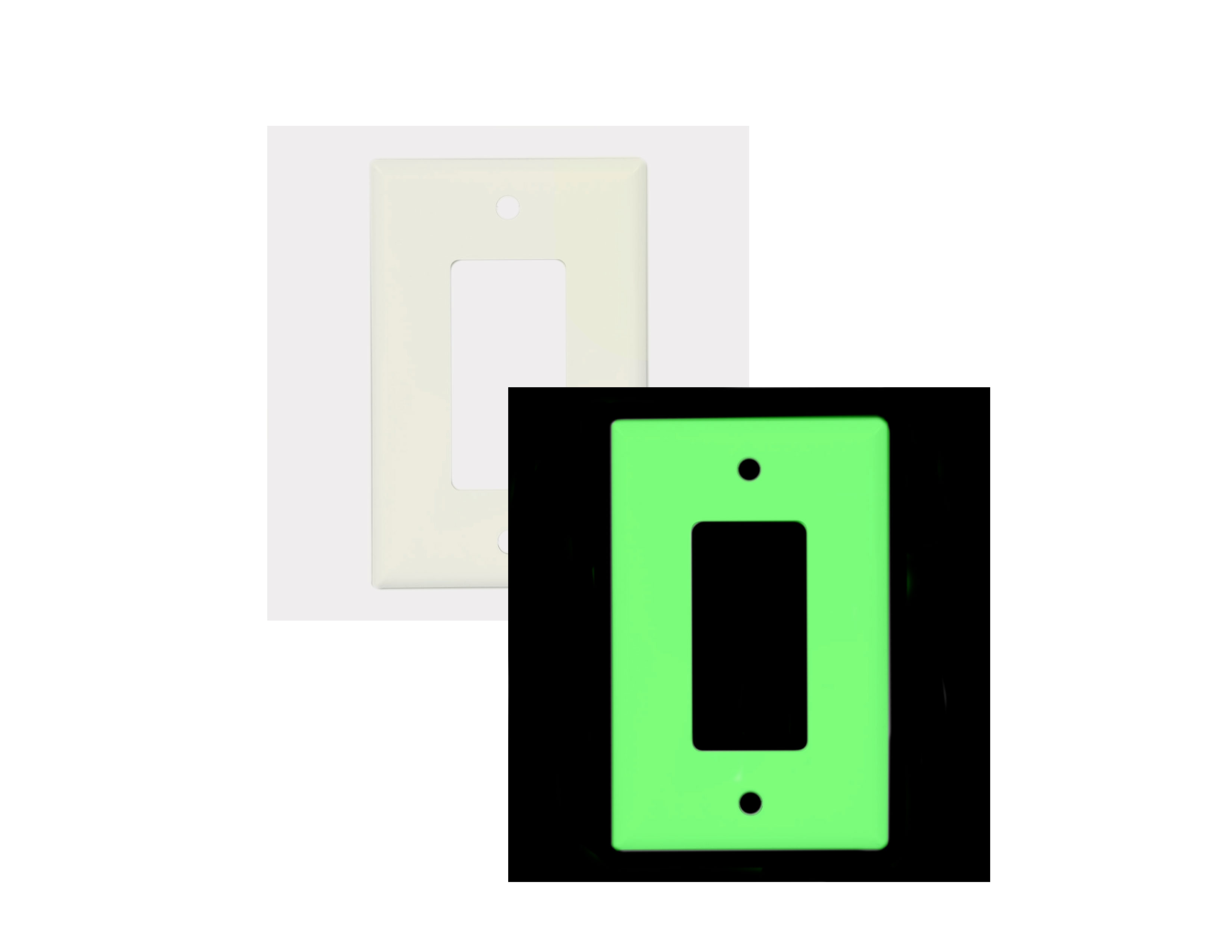 Single Glowing Switch Plate Image