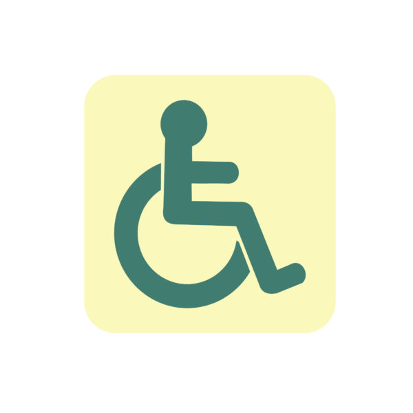 5″W x 5″H Handicapped Restroom