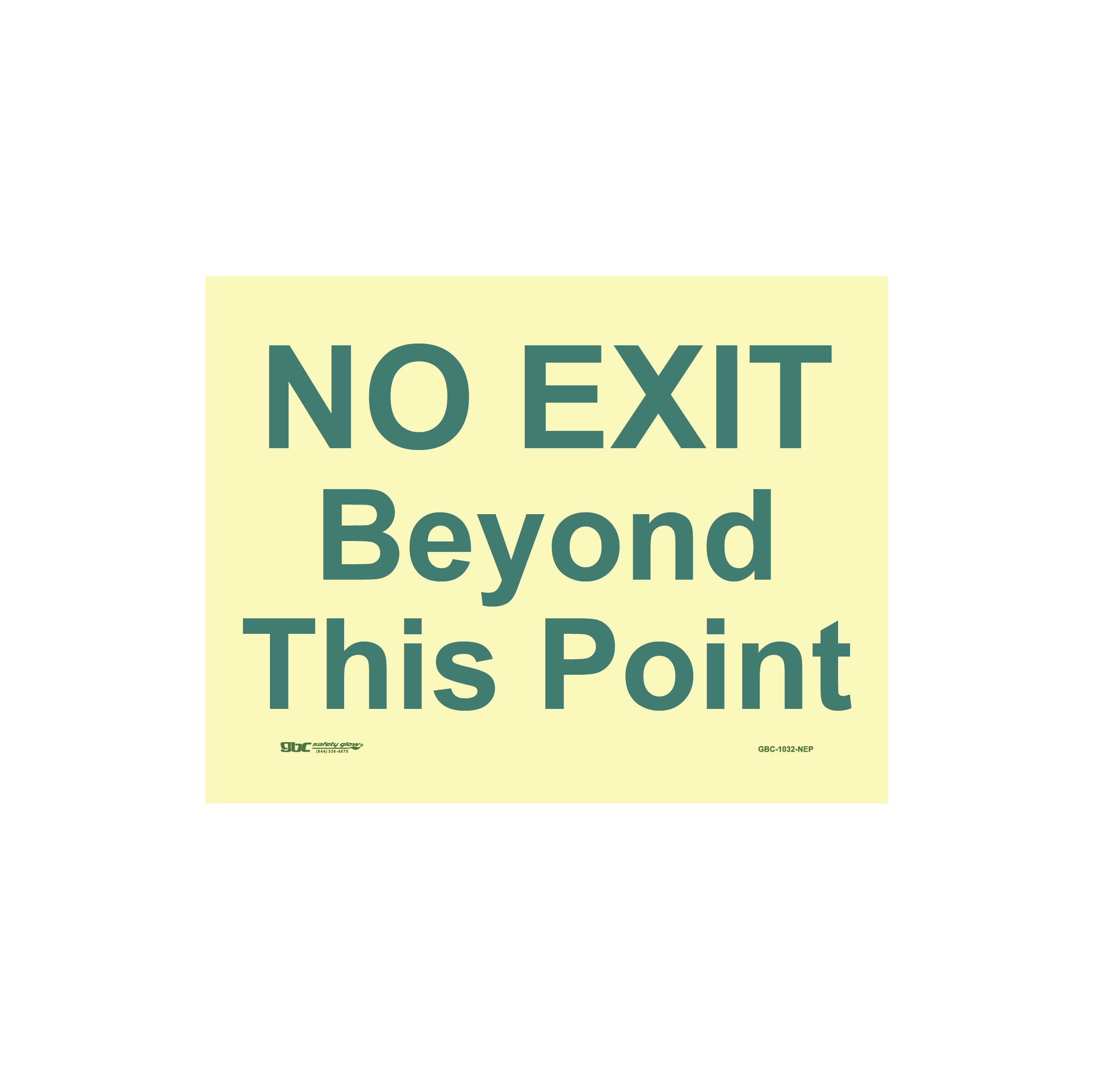No Exit Beyond This Point Sign Image