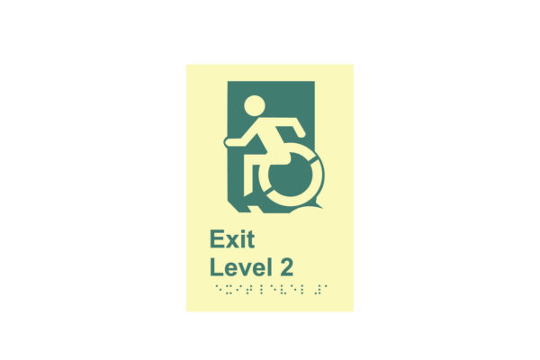 8″ x 10″ Public & Handicapped Exit Level 2