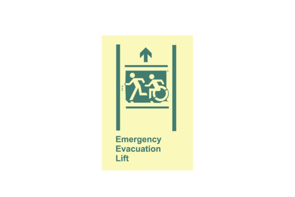 8″ x 10″ Public & Handicapped Emergency Evacuation Lift Directing Up