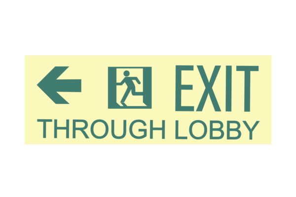 17″ x 8″ Exit Through Lobby Facing Left Directing Left
