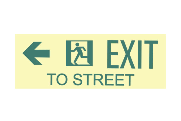 17″ x 8″ Exit To Street Facing Left Directing Left