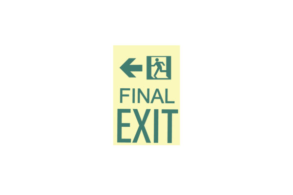 9″ x 12″ Final Exit Facing Left Directing Left