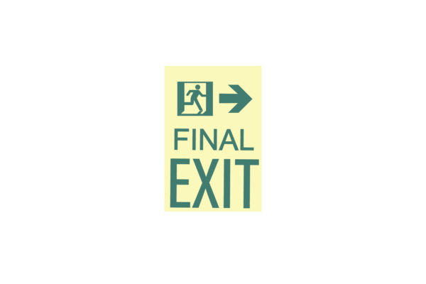 9″ x 12″ Final Exit Facing Right Directing Right