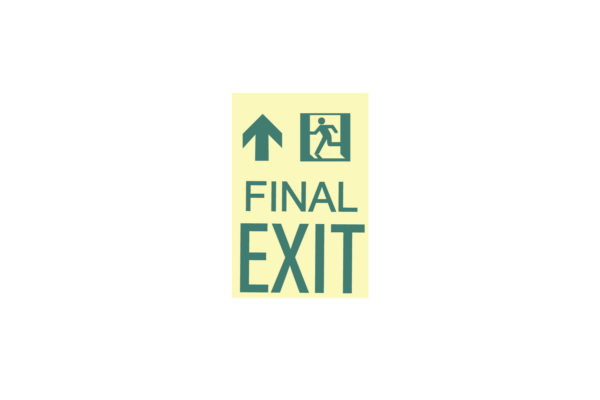 9″ x 12″ Final Exit Facing Left Directing Up