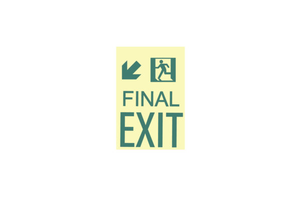 9″ x 12″ Final Exit Facing Left Directing Down and Left