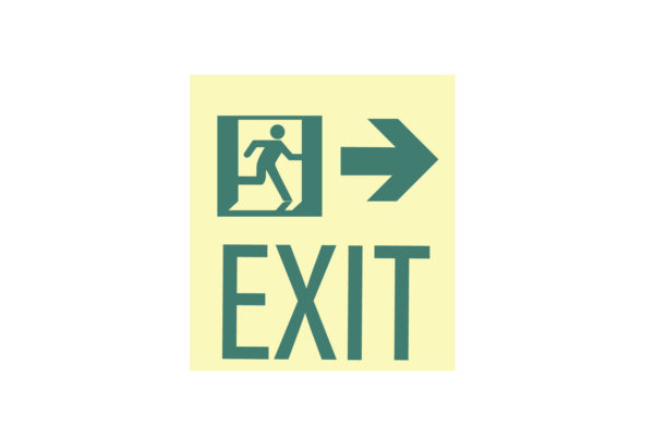 8.5″ x 10″ Exit Man Arrow Facing Right Directing Right