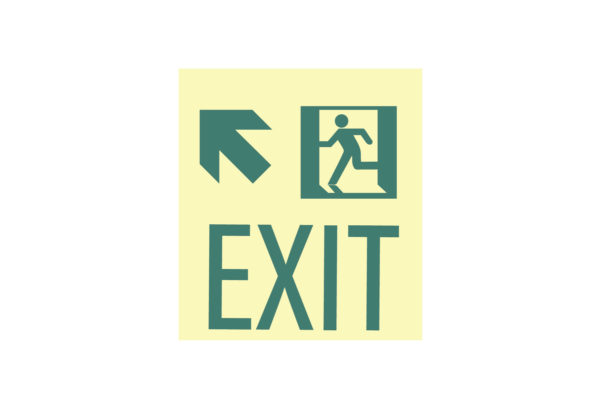 8.5″ x 10″ Exit Man Arrow Facing Left Directing Up and Left