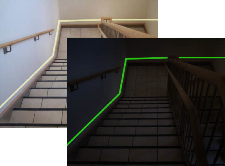 Perimeter Demarcation Lines in Stair Well