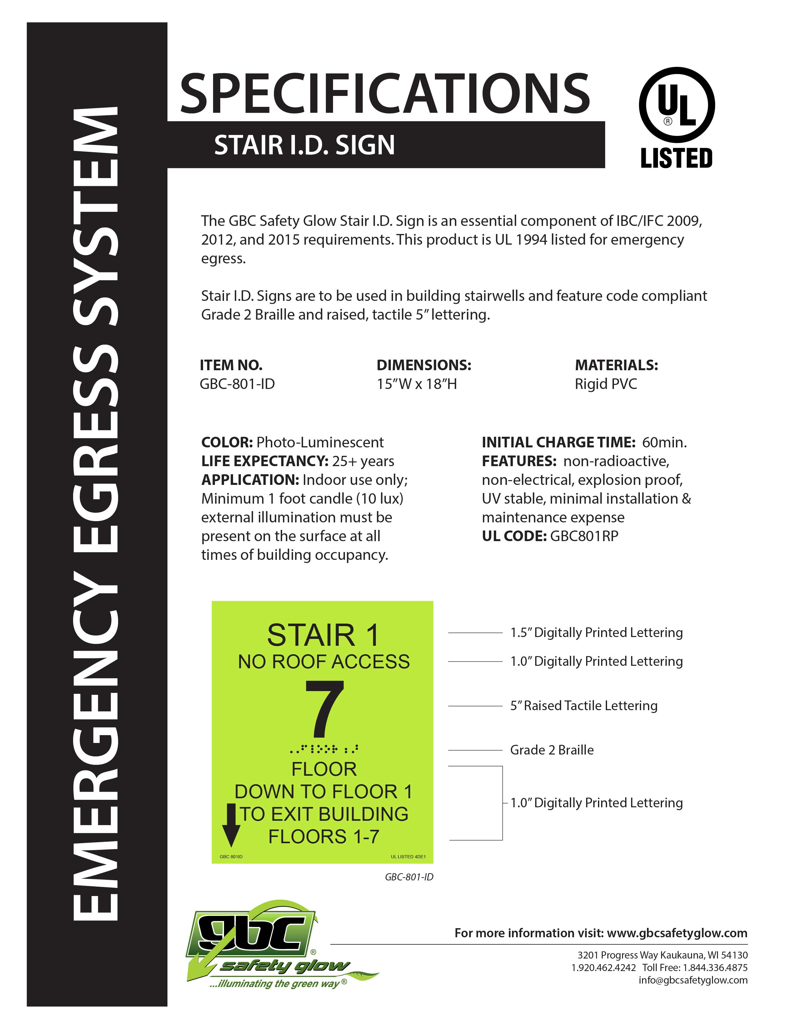 Stair I.D. Signs