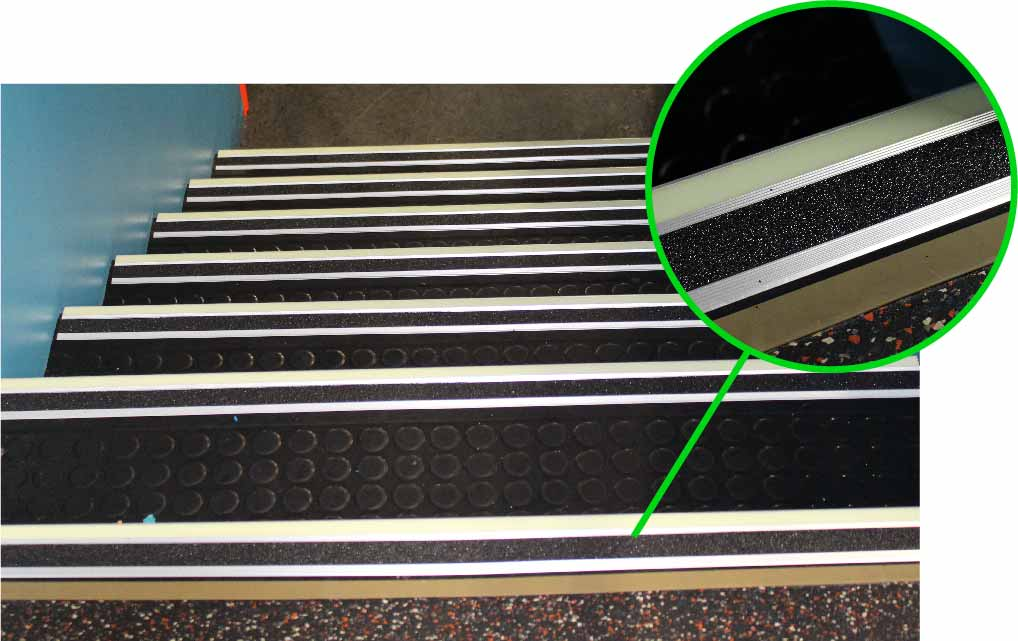 Stair with Bull Nose Stair Tread