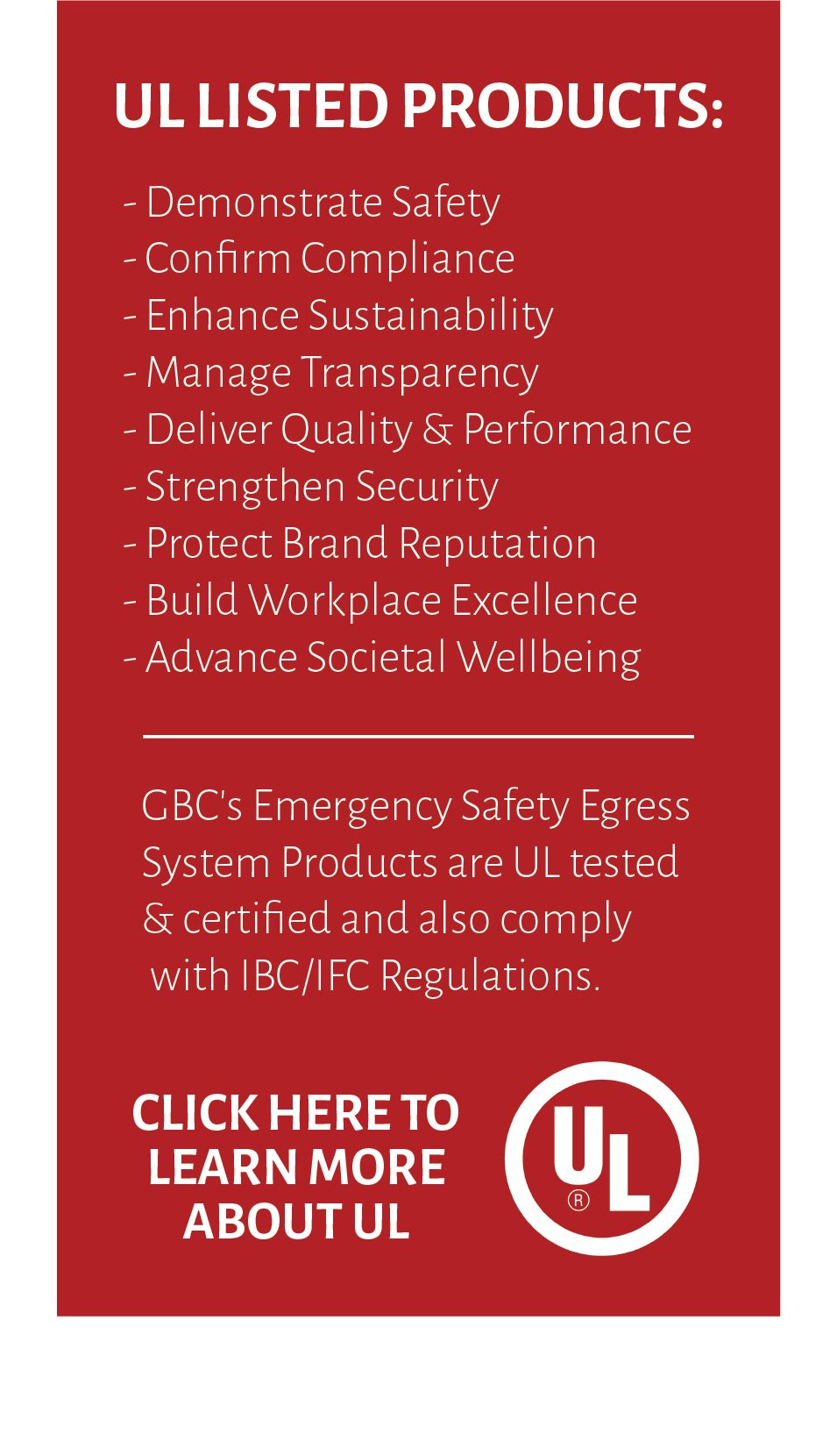 UL Listed Certification